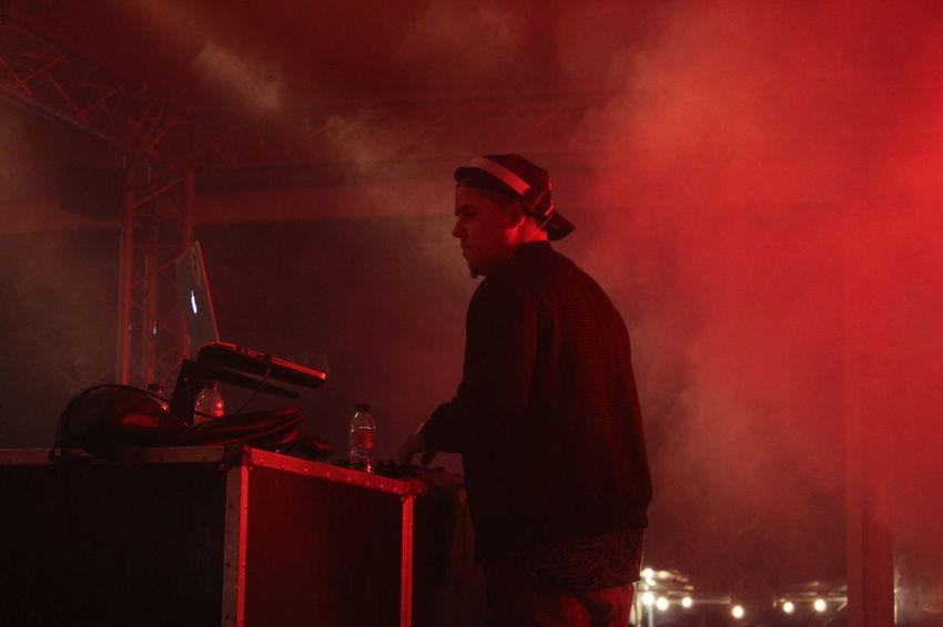Concert Dj Illuminated Light Music Music Night Occupation Red Smoke Streetphotography Urban Urbanphotography