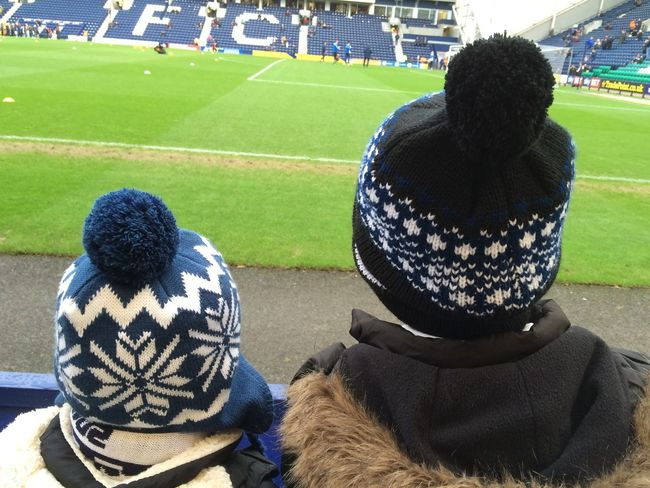 People Together Brother & Sister Football Match Bobble Hat  Soccer Watching