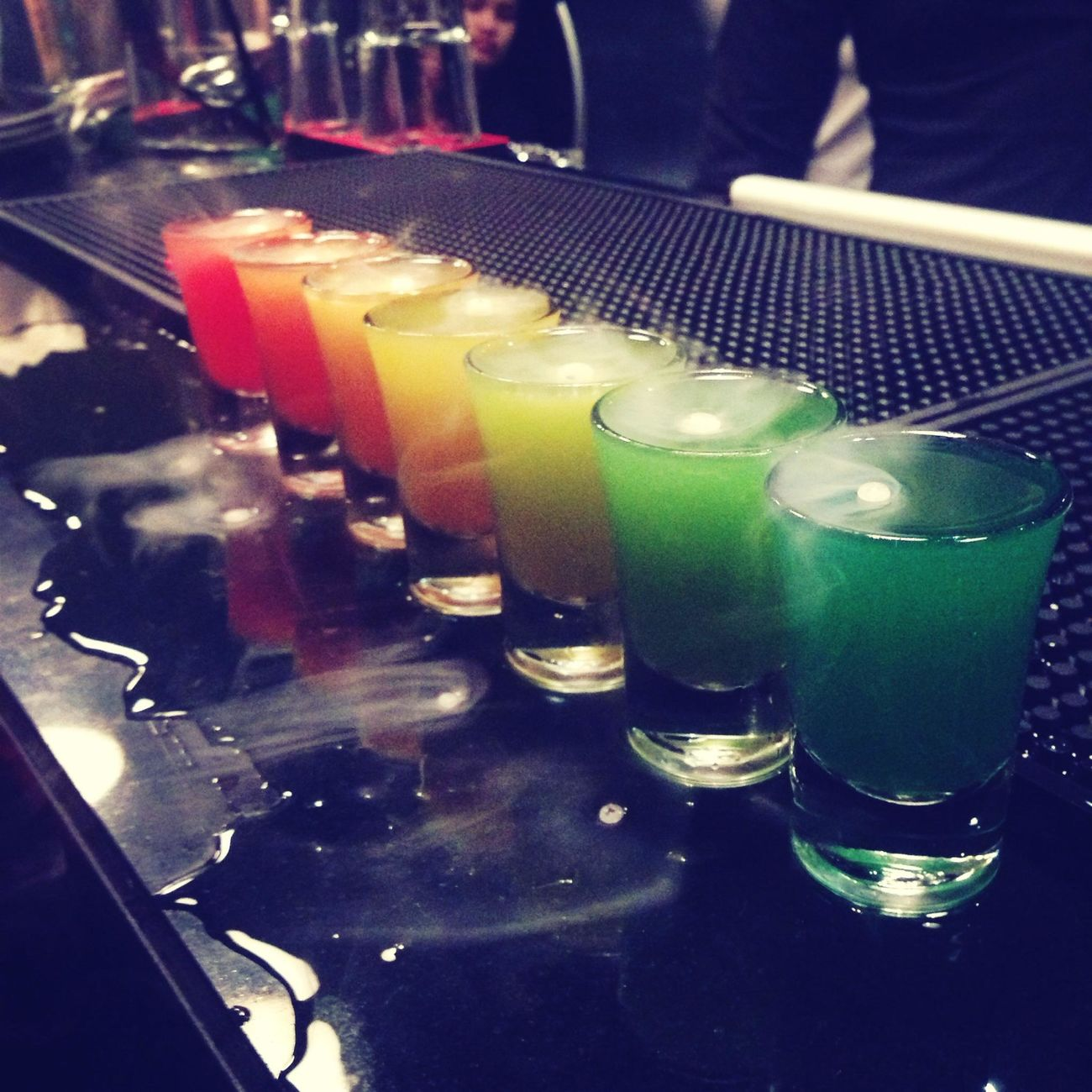rainbow Art Rainbow Colorful Drinks