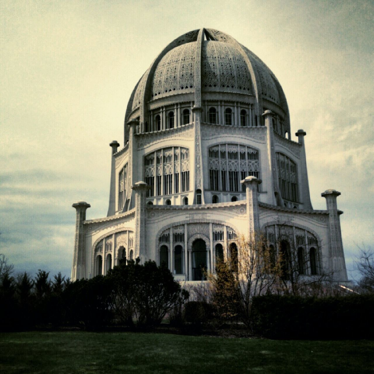Bahai Temple Bahai Dome Architecture Religion Spirituality Famous Place Place Of Worship International Landmark Tourism Chicago Illinois Architecture Dome Built Structure Building Exterior Spirituality Religion Travel Destinations History Place Of Worship Famous Place Tree Memories Façade