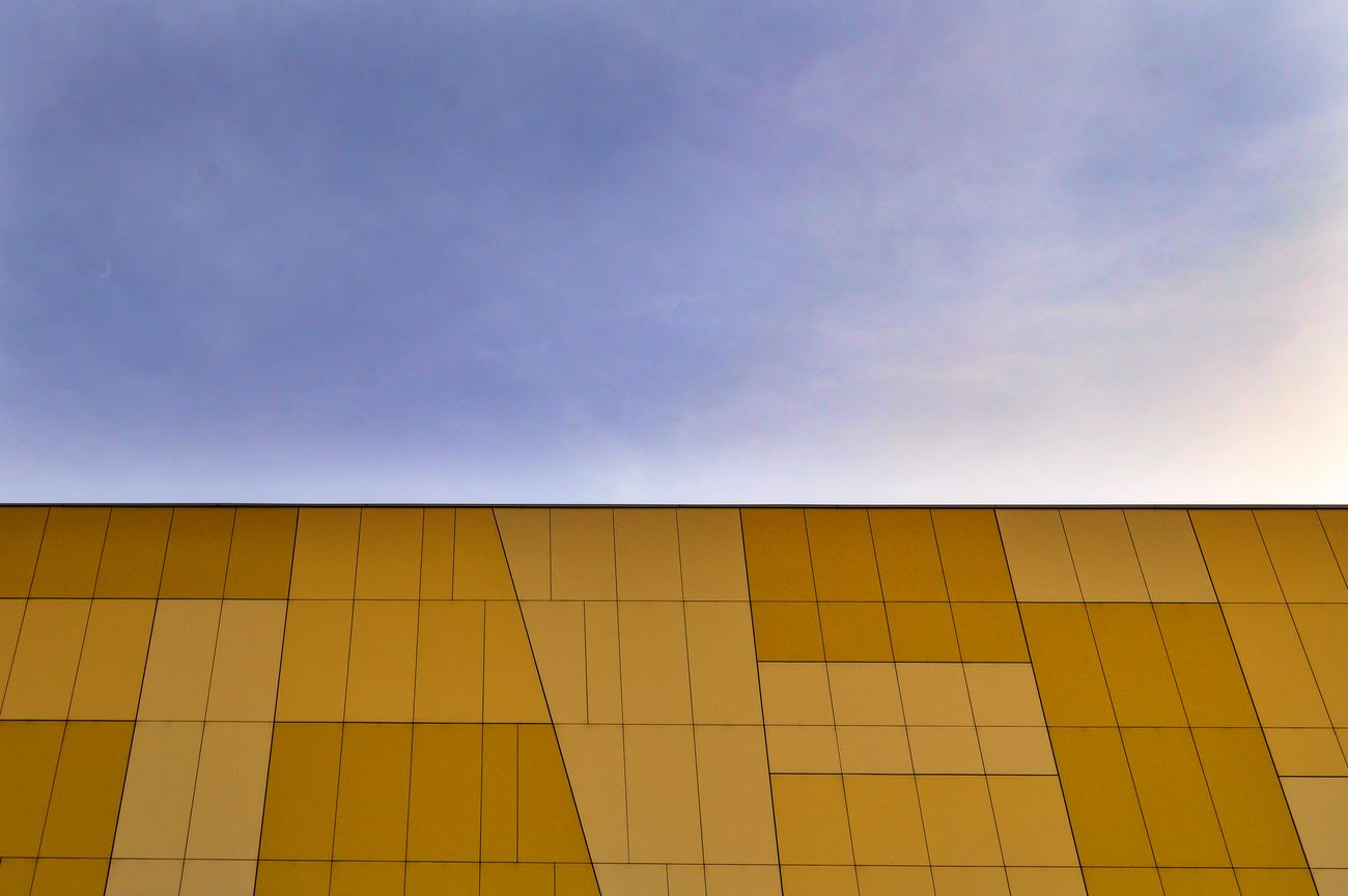 Abstract Architectural Detail Architectural Feature Architecture Building Exterior Buildings & Sky Built Structure Cityexplorer Clear Sky Contrast Low Angle View Minimal Minimalism Minimalist Minimalobsession Pattern Simplicity Sky