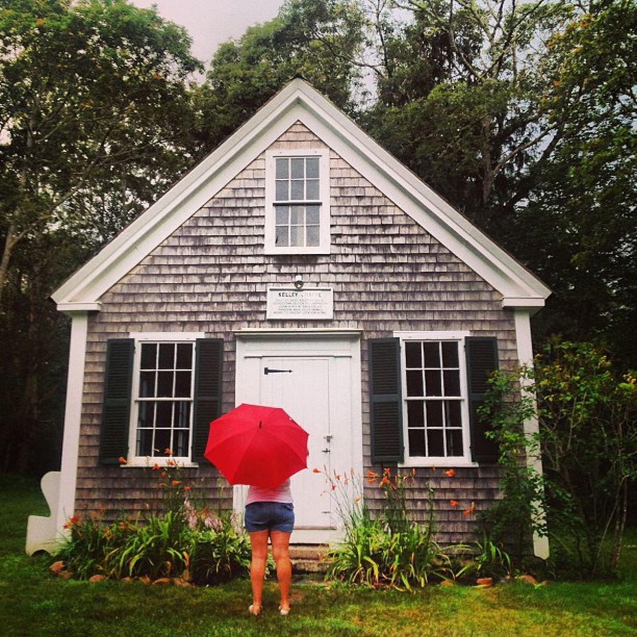 Chapel Redumbrella Rain Capecod