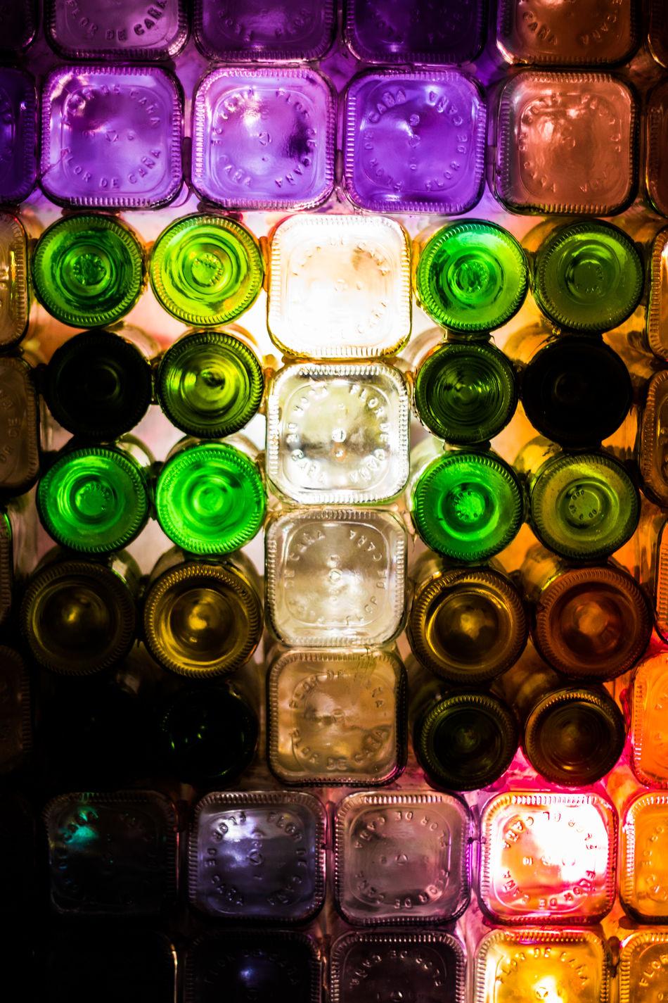 Backgrounds Bottle Bottles Bottles Collection Close-up Day Drink Freshness Full Frame Green Color Indoors  Multi Colored No People Variation