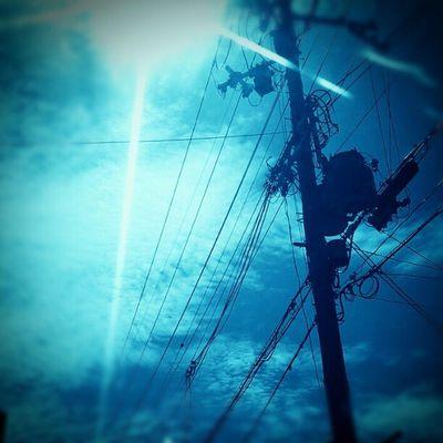 #powerline #electricline #sky #cloud Sky Cloud Powerline Electricline