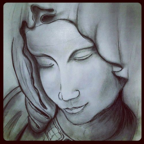 Well this our work in subject History We use to make Sketches of any part of the Building So I made Mother Mary in the topic of Christian Architecture Whpidrewthis Art Illustration Drawing Draw Artist Sketch Sketchbook Paper Pencil Artsy Instaart Beautiful Instagood Masterpiece Creative Instaartist Graphic artoftheday charcoalpencil charcoal spiritual arts_gallery