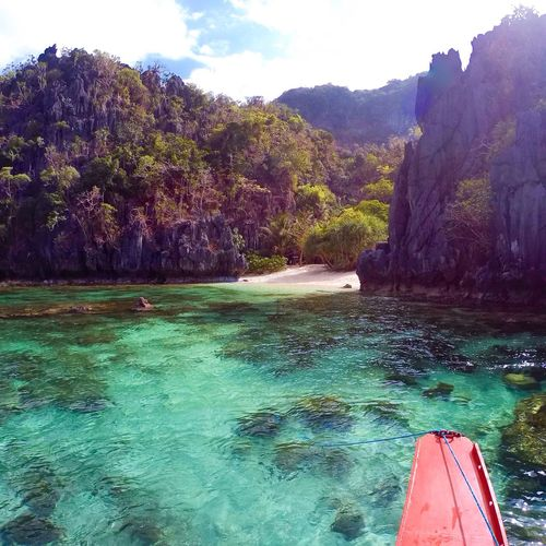 Finding New Frontiers Scenics Beauty In Nature Nature Philippines El Nido Palawan Philippines Photos Sea Water Mountain Rock - Object Travel Destinations Tranquility Tranquil Scene Outdoors Day Sky Adventure Nautical Vessel Tree Beach No People Been There.