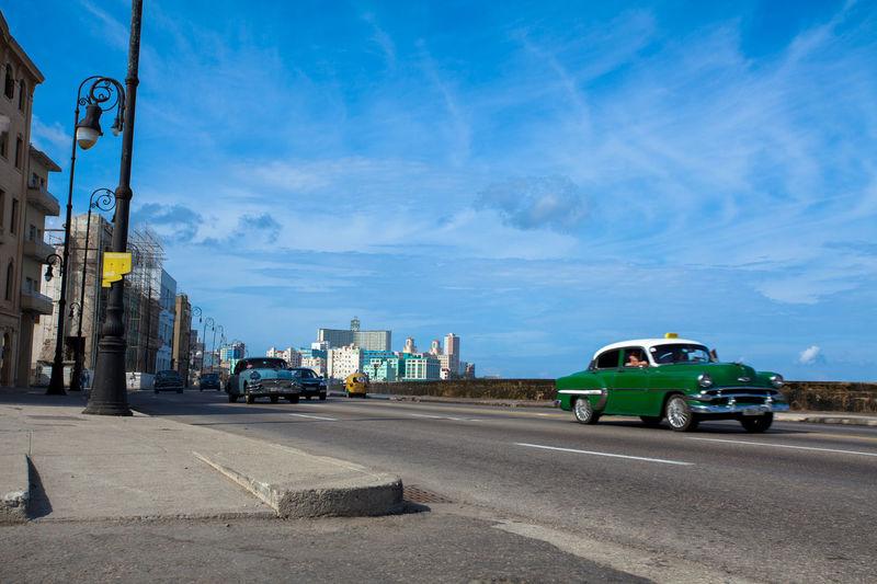 Havana, Cuba. Car on Malecon. Car City City Life City Street Cuba Cuban Havana Land Vehicle Malecon Malecón, La Habana Mode Of Transport Old Car Old Times Old Town On The Move Road Street Transportation Vintage Car Vitage
