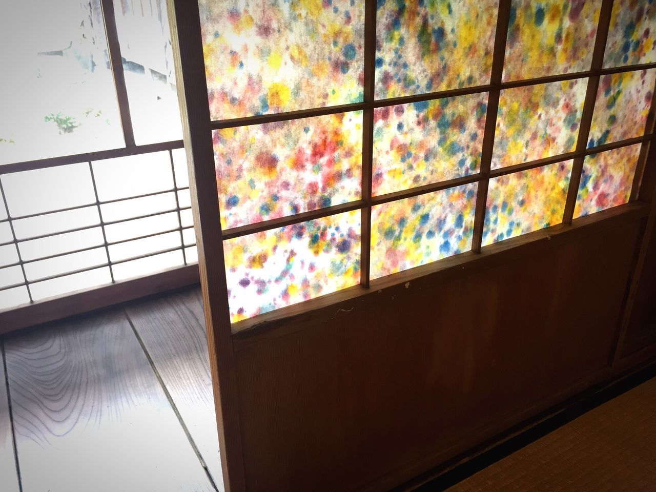 window, indoors, no people, home interior, multi colored, day, architecture, close-up