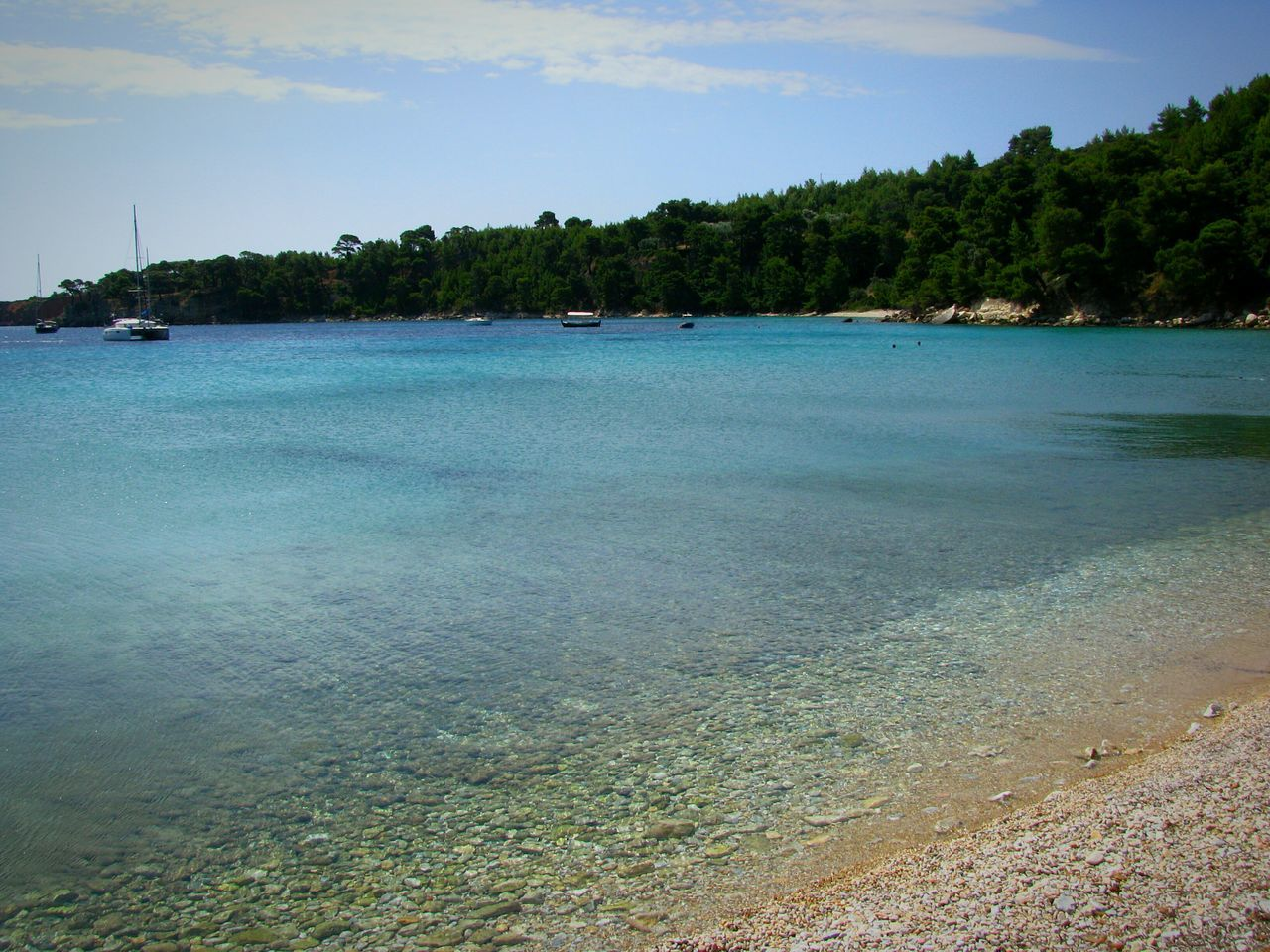 Beach Beach Photography Life Is A Beach Alonnisos Island Greek Islands Water Tranquil Scene Scenics Tranquility Boat Nature Beauty In Nature Non-urban Scene Sea Boats Calm Sea Crystal Clear Waters Blues Shades Of Blue Blue Sea Seascape Landscapes