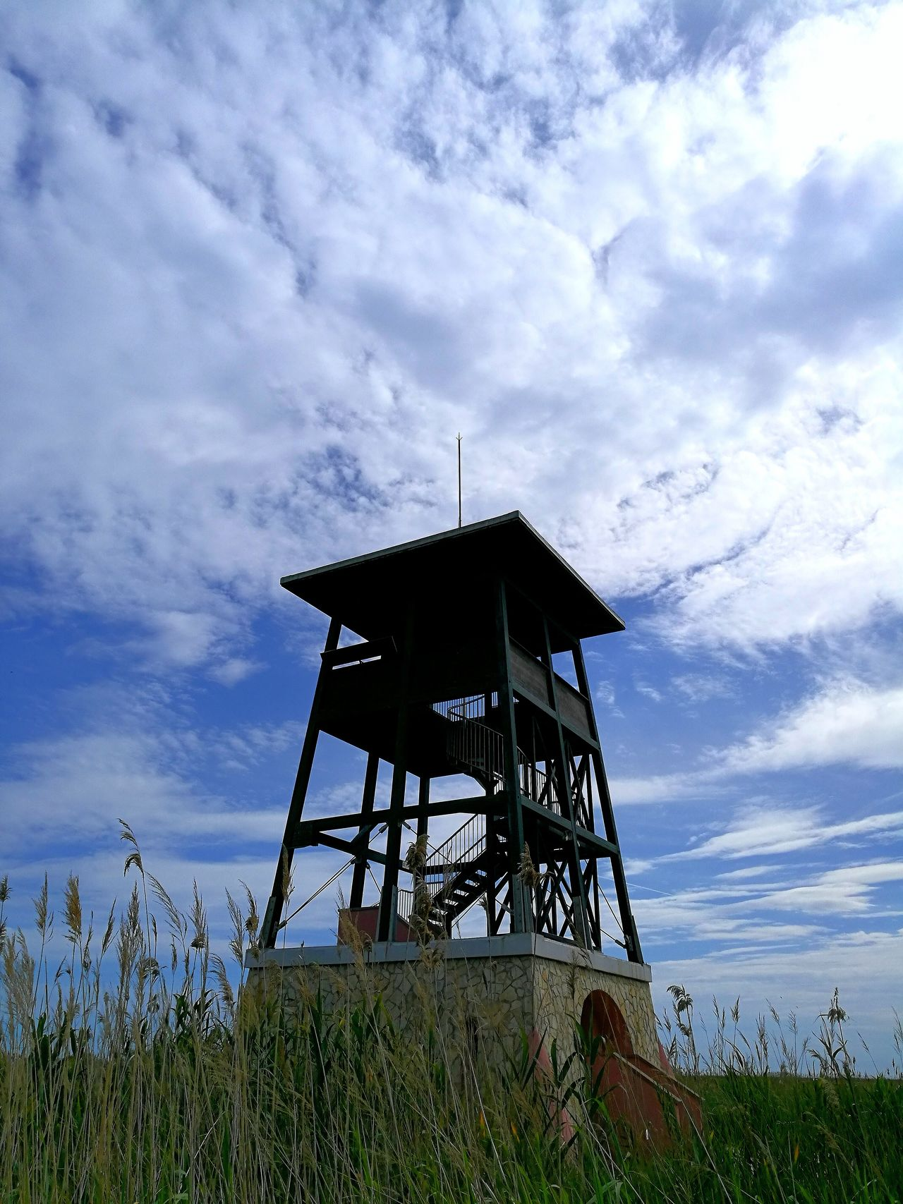Cloud - Sky Built Structure Architecture Sky Lookout Tower Safety Building Exterior Low Angle View Lifeguard Hut Outdoors Lifeguard  Day Nature Sea No People Water Torre Deltadelebro Deltadelebre Delta De L'Ebre Delta Del Ebro Torre Picoftheday Tranquility Beauty In Nature