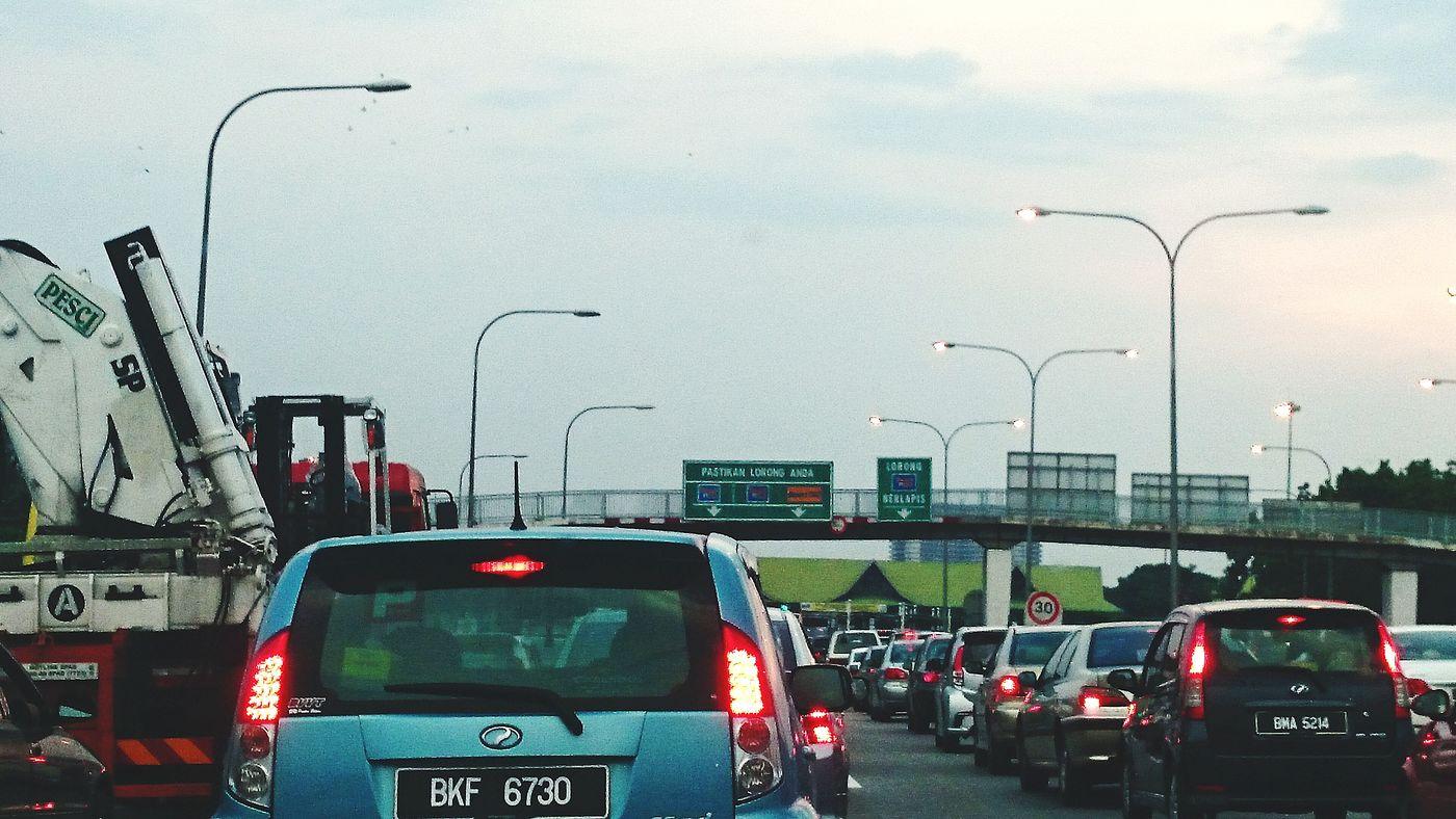 Con gestion. Traffic Jam. Patience