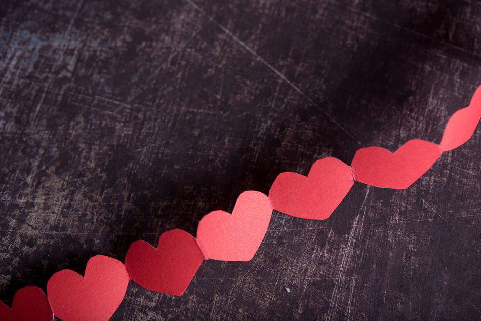 Backgrounds Close-up Day Full Frame Heart Shape Indoors  No People Red