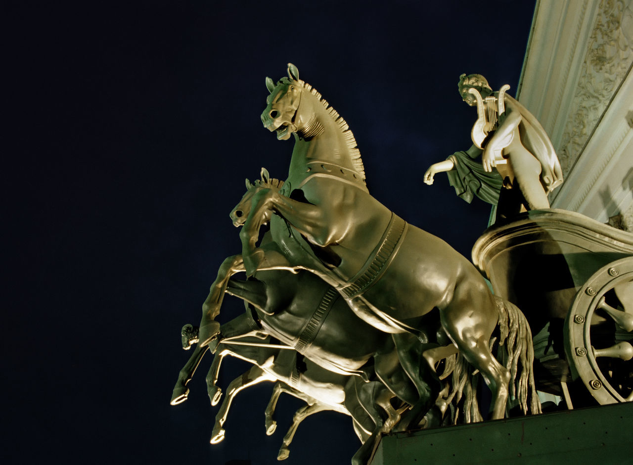 Quadriga of Apollo. The Bolshoi Theatre. Moscow. Animal Representation Art Art And Craft Close Up Close-up Creativity Cultures Design Detail Focus On Foreground Human Representation Moscow.russia Negative Space One Animal Ornate Part Of Quadriga Sculpture Statue The Bolshoi Theatre Tradition