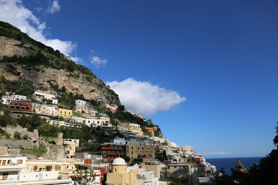 Architecture House Mountain Built Structure Building Exterior Blue Residential Building Town Sky Landscape Outdoors Community Travel Cloud - Sky No People Day Travel Destinations Mountain Range City Cityscape Travel Tranquility Positano, Italy