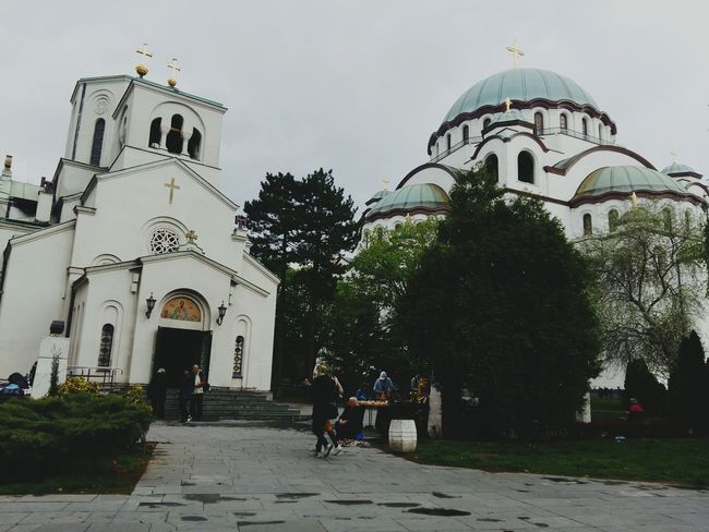 Architecture City Place Of Worship Day Belgrade,Serbia Culture Ortodox Church