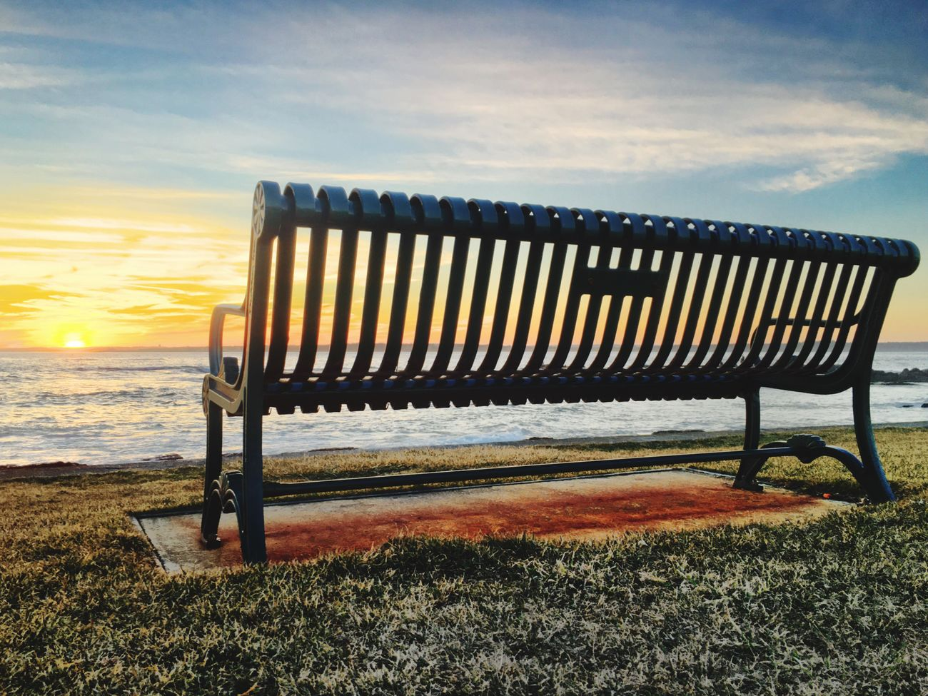 Good Night Sunset Rhode Island Brenton Point Bench Good Night