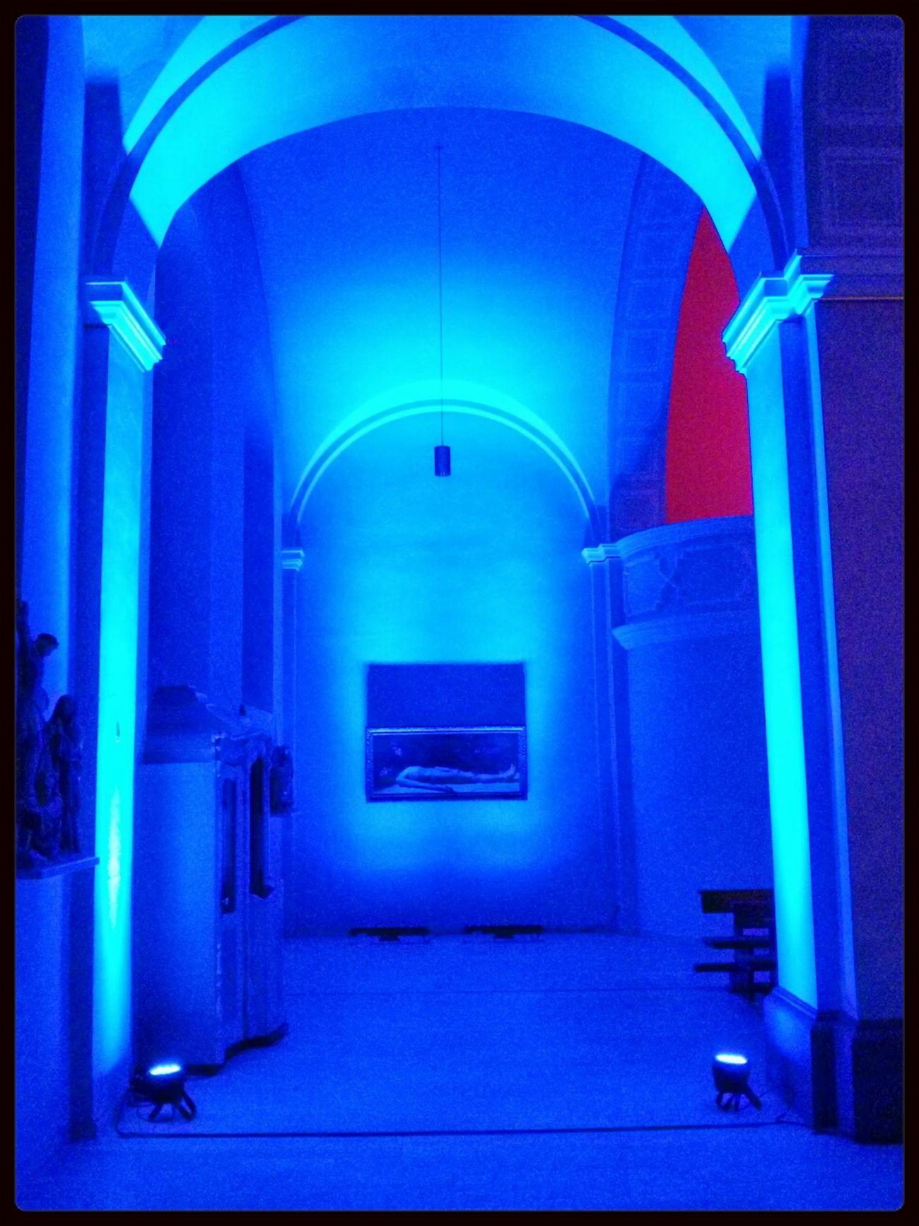 nachts in Blau , in Hofheim