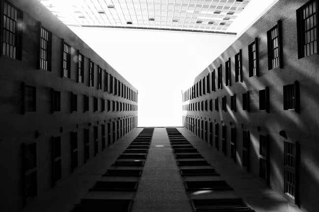 After raining Sao Paulo - Brazil Architecture Built Structure In A Row Lookingup Sky Residential Building Reflection Light And Shadow Blackandwhite Black And White Monochrome Photography Streetphotography Day Metropolis Metropolitan