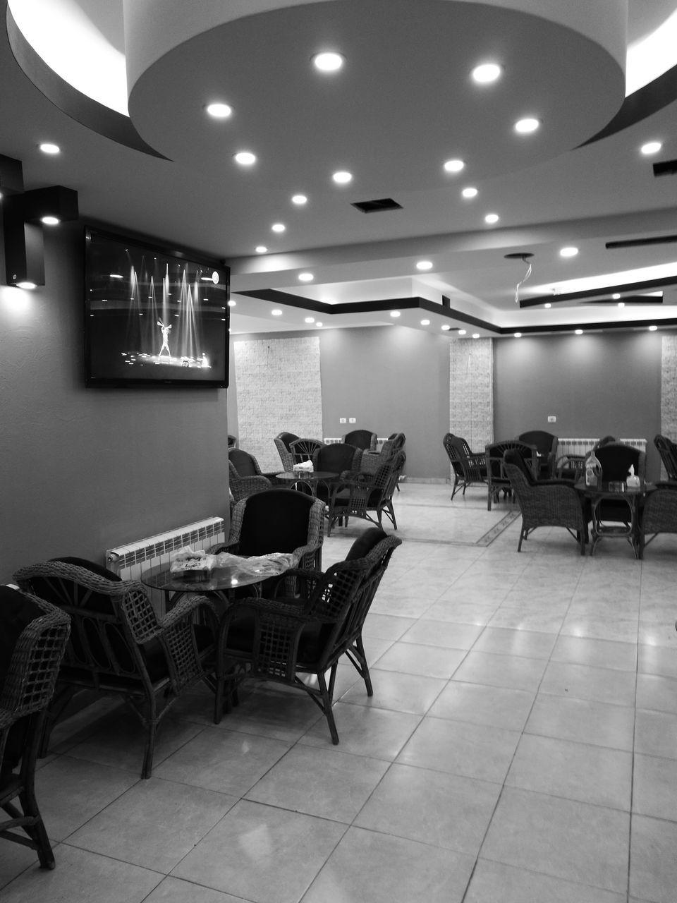 indoors, chair, illuminated, lighting equipment, no people, day