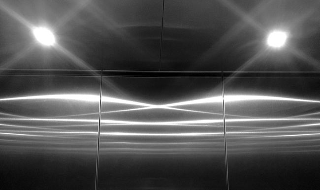 Elevator Lighting Reflection