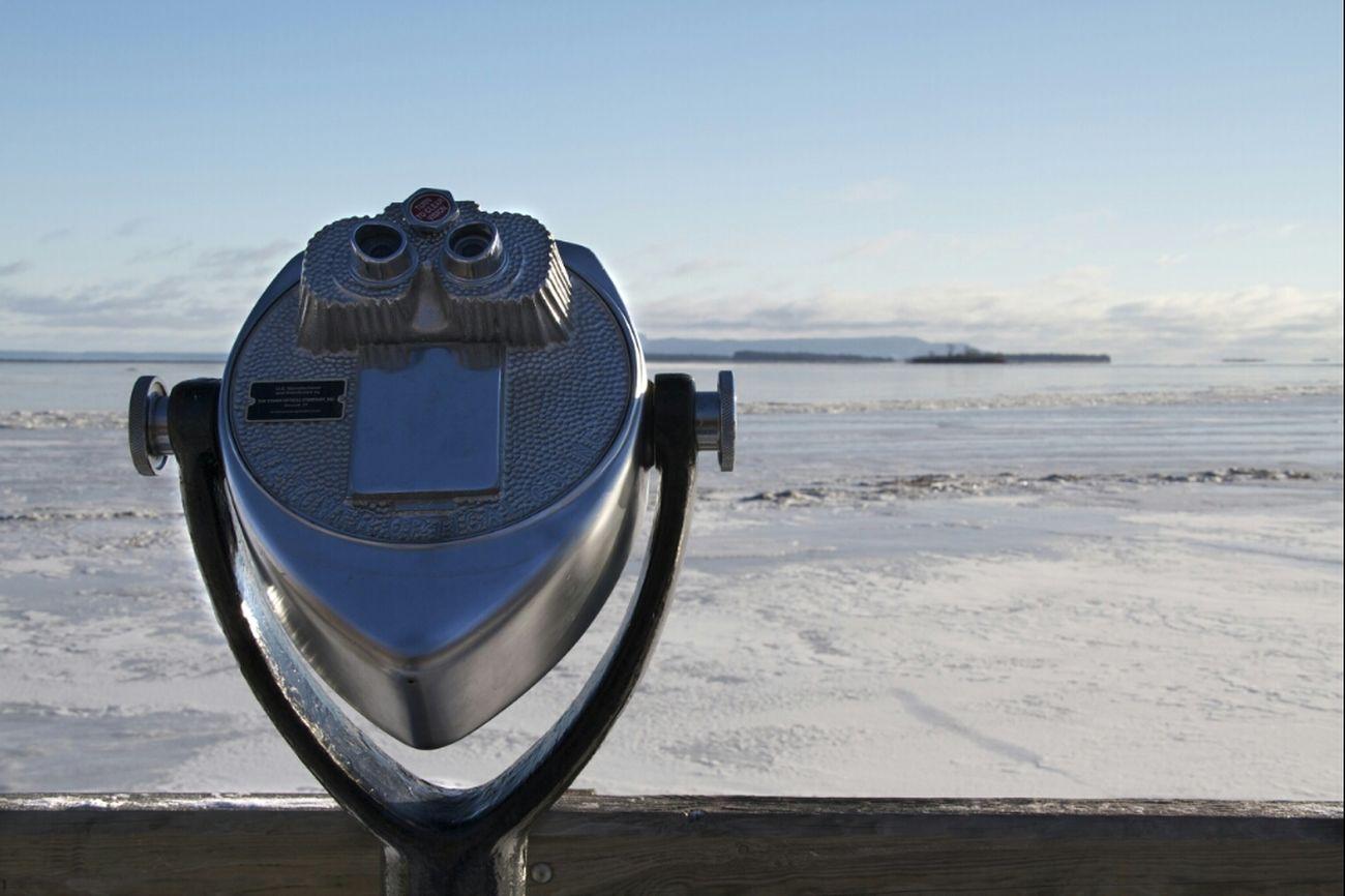 Landscape Winter Snow Lake Superior Thunder Bay View Finder