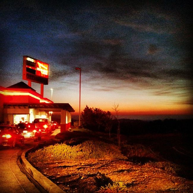 Yee ! InNOut Drive -thru and a Californiasunset