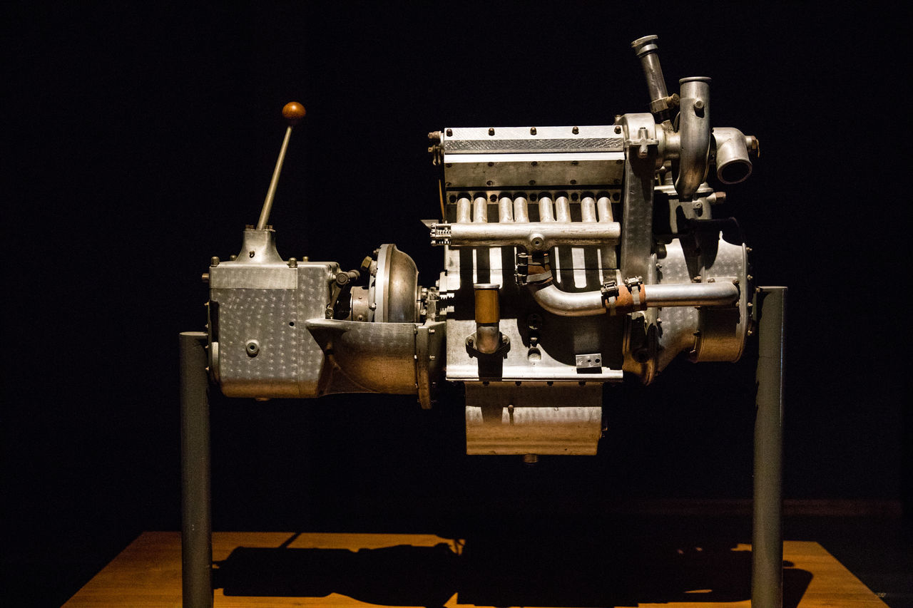 Cité de l'Automobile Black Background Bugatti Close-up Engine Light And Shadow Old Engine Old-fashioned Technology Vintage Engine Break The Mold