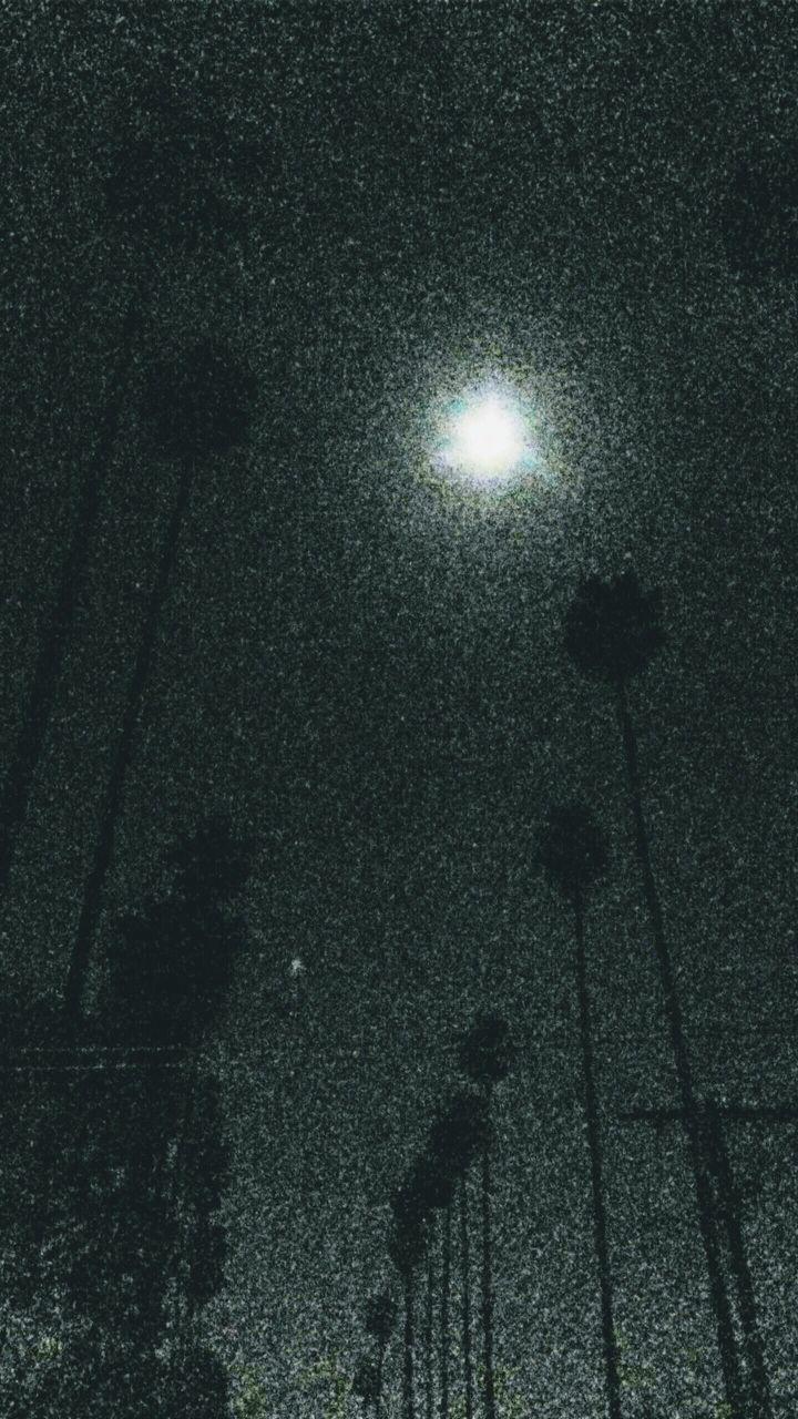 night, silhouette, moon, illuminated, outdoors, street light, electricity, shadow, tree, no people, nature, sky