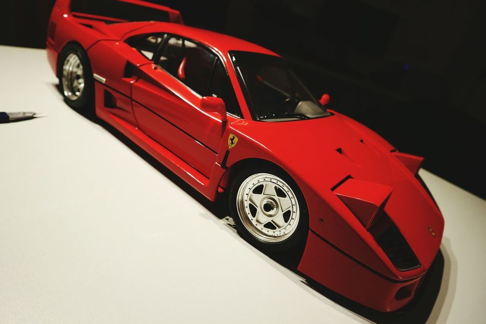 Red Car No People Racecar Motorsport Ferrari F40 Model Modellbau  1/6 Scale Pocher Shiny Awesome HDR Expensive Beautiful EyeEmNewHere