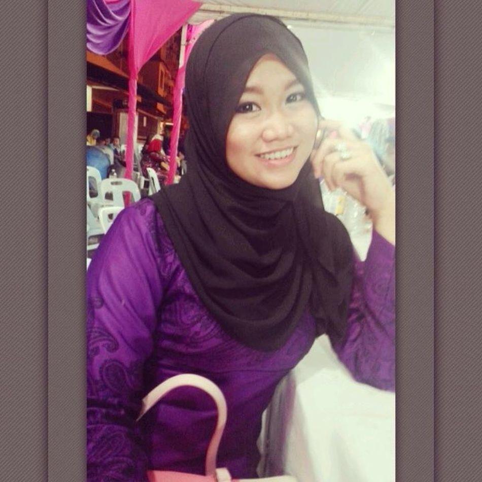 Me in purple dress..???? night wedding .. Kenduri Kahwin Gombak Latepost ♥Myunie♥