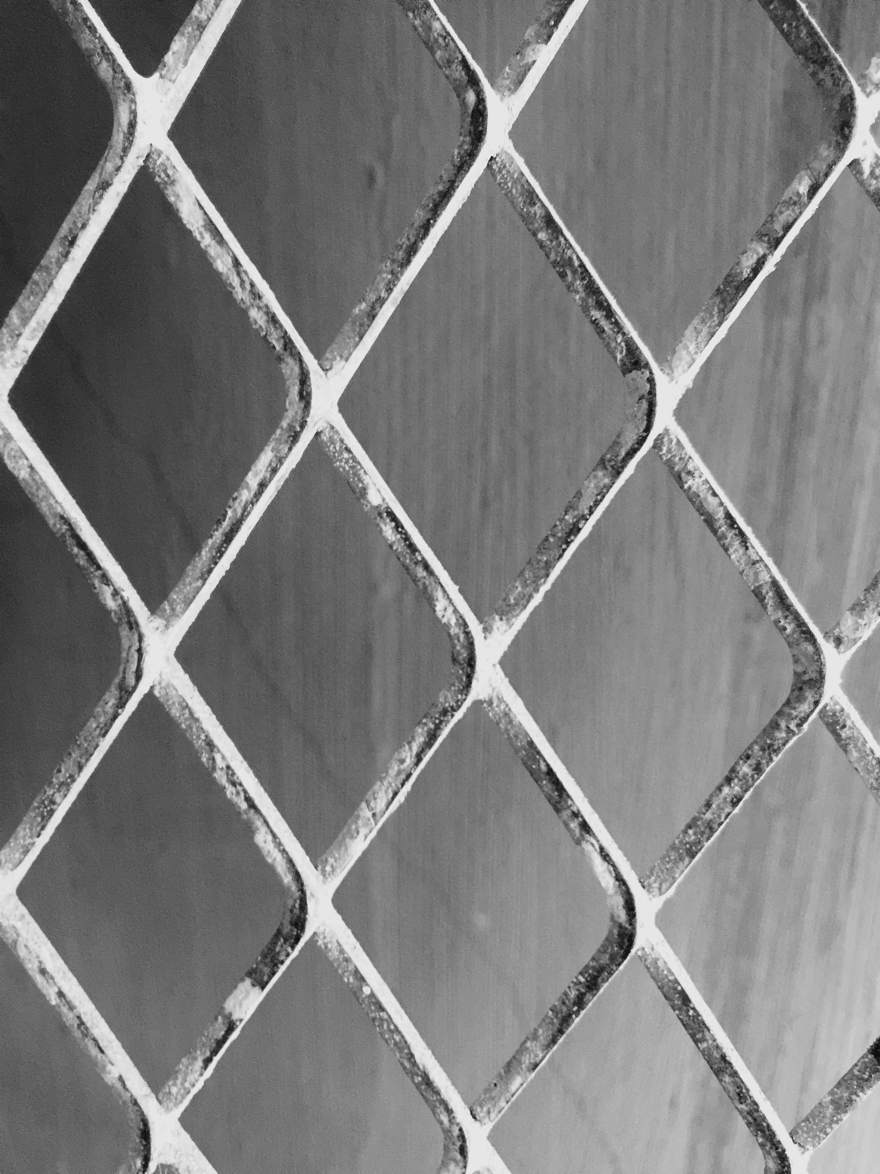 full frame, backgrounds, pattern, chainlink fence, protection, textured, close-up, metal, safety, design, geometric shape, detail, fence, no people, indoors, security, built structure, repetition, day, metal grate