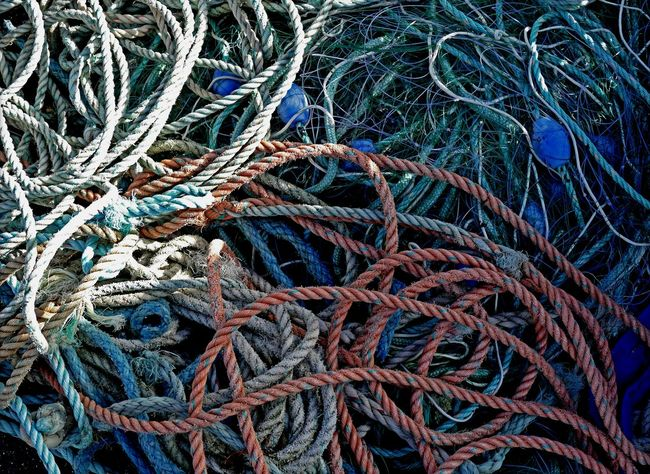 Abstract Design Filets Fishing Geometry Maritime No People People Rope Strings