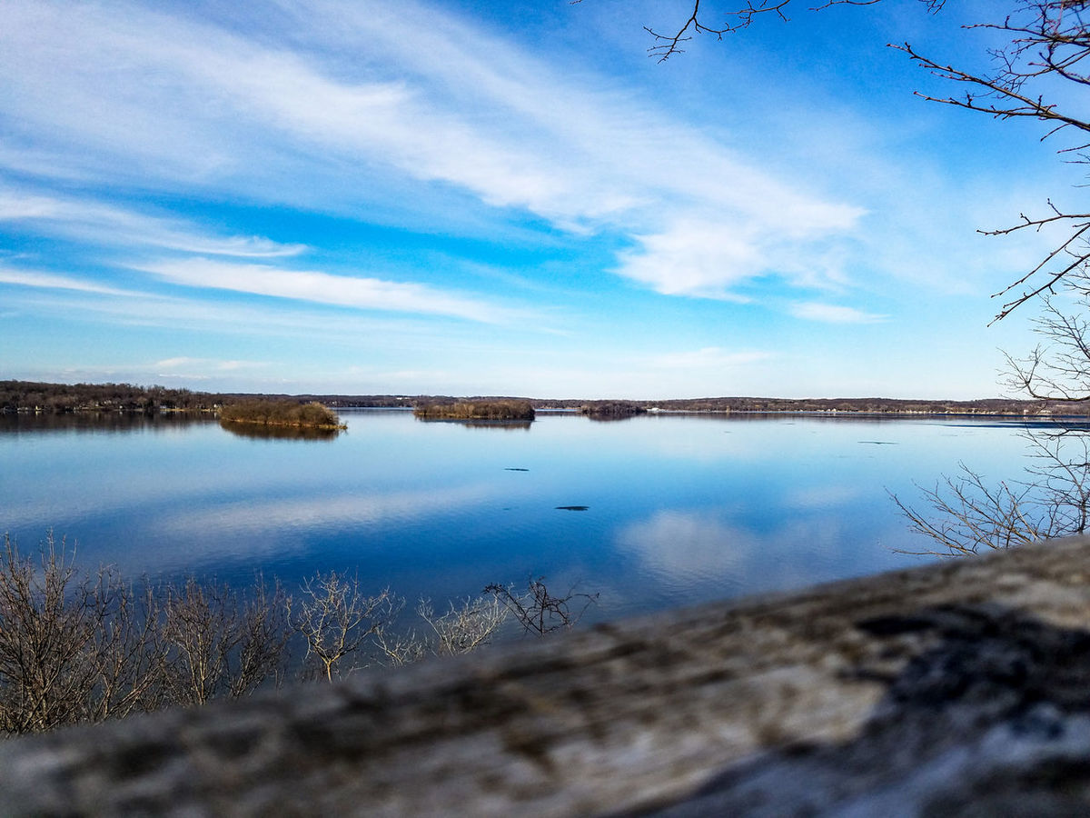 Reflection Blue Water Scenics Sky Nature Lake No People Beauty In Nature Outdoors Day Lake Koronis Lake View Landscape March 2017 Springtime Spring Minnesota Koronis Regional Park Park Explore Freshness Forest Trees Wood