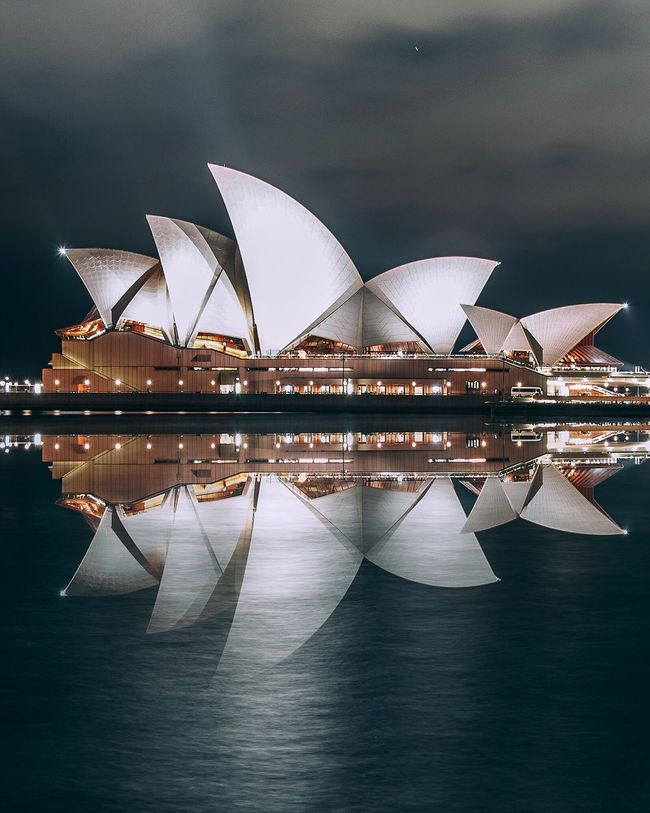 Sydney Opera House Night Illuminated Arts Culture And Entertainment Travel Destinations Architecture Harbor City Outdoors Modern No People Cityscape
