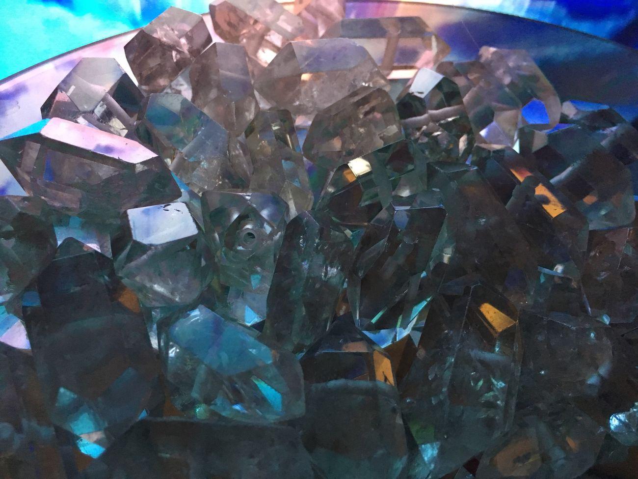 Crystals Crystal Quartz Gems Mineral Gemstone  Precious Gem Close-up Indoors  Rock Stone Cave Treasure Pile Mound Heap Transparent Crystal Clear Crystals
