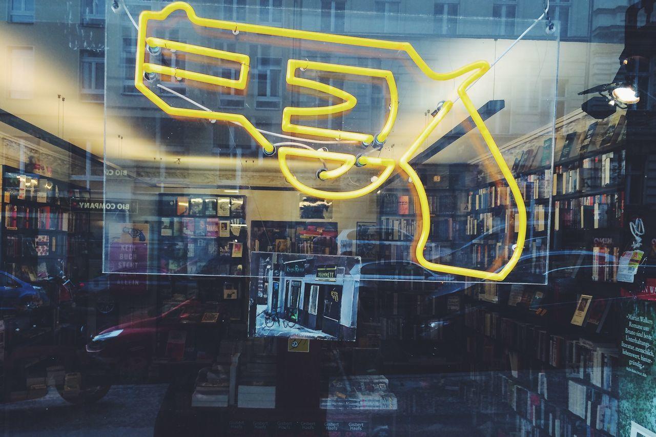 Bookstore Gun Illumination