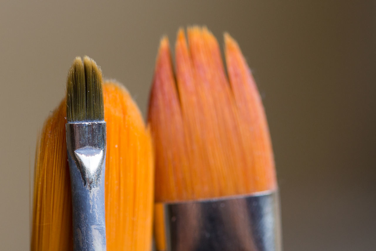 paint brush Close-up Color Colors Creativity Day Drawing Indoors  Nature No People Oil Painting Orange Color Paint Paintbrush Painting Studio Shot Tools Working Tool