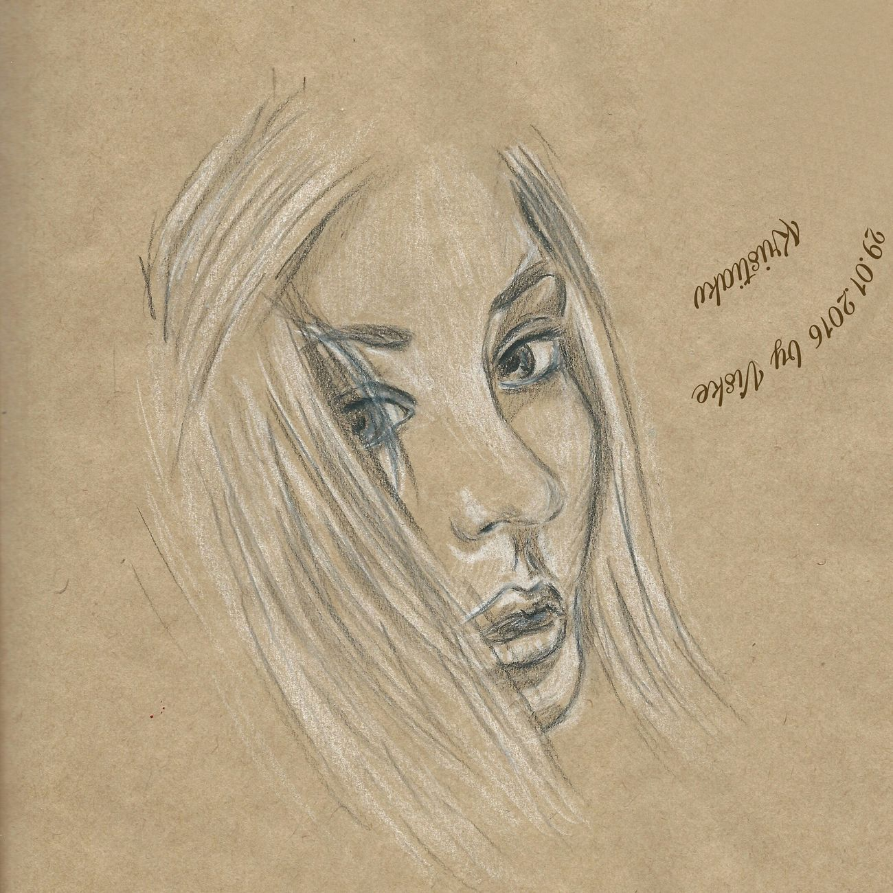 Art, Drawing, Creativity One Person Free девушка рисунок портрет рисунок карандашом автопортрет Face Art арт