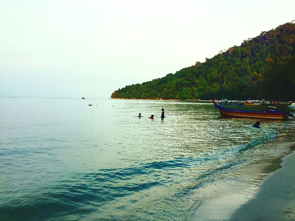 Malaysia My Unique Style Penang Islandlife A Different Perspective Paradise Jungle Beach Monkey Beach Nature The Great Outdoors Beach Jungle Boat Shore Evening Swim