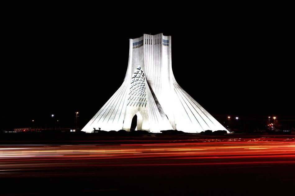 Azadi tower in the night at Tehran Night Speed Motion Illuminated Transportation EyeEm Diversity Azadi Square Azadi Tower In Tehran Azadi Tower Tehran At Night Tehran Iran Tehran Streets Tehran Night Tehran, Iran Long Exposure Art Is Everywhere City Outdoors Architecture No People Break The Mold