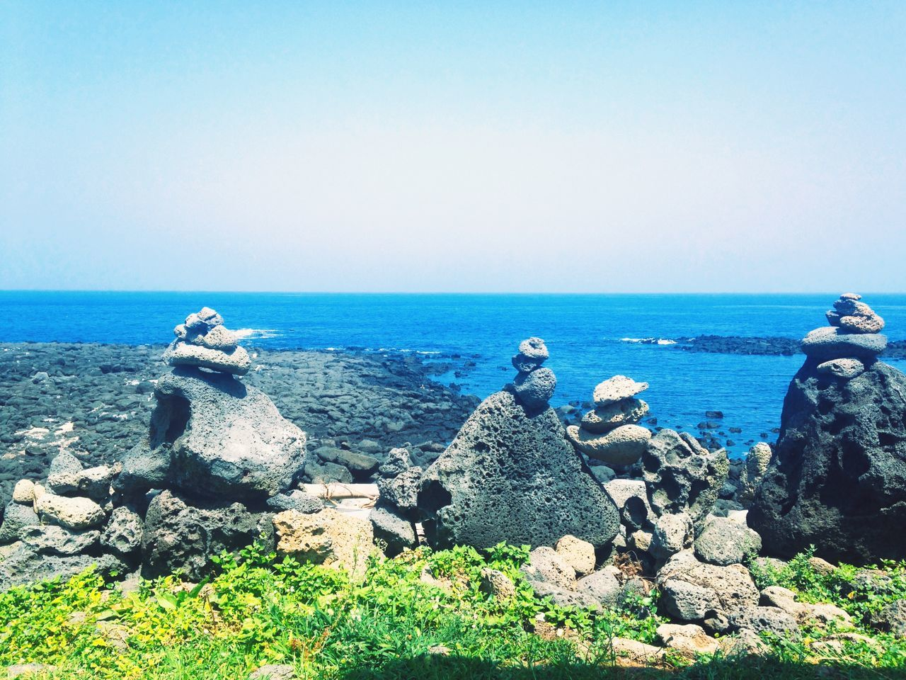 Summer Views Korea Wonderful Island JEJU ISLAND  Jeju Udo Beautiful Nature Stone Sea