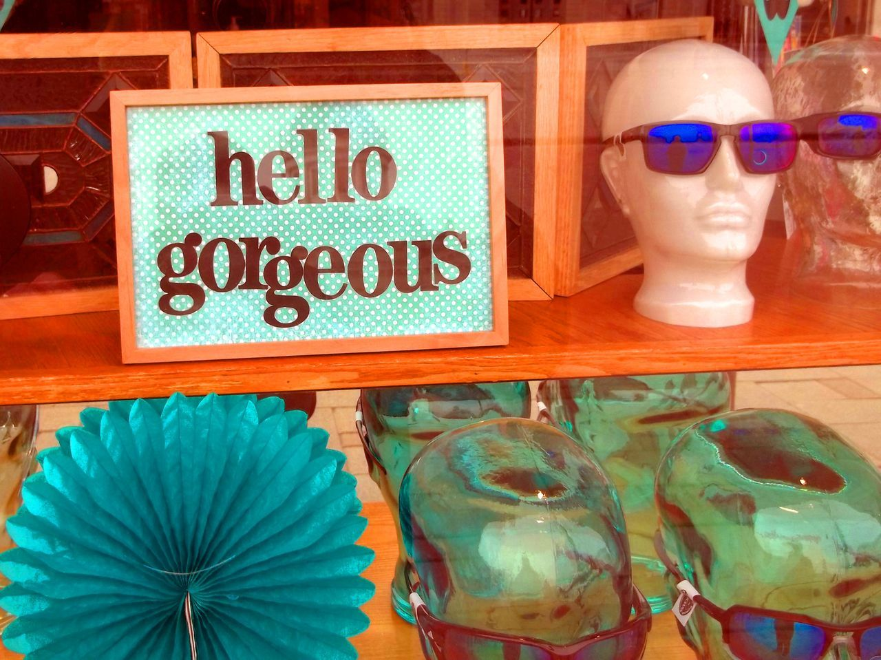 Yes you -- hello gorgeous !! Avantegarde Business Close-up Communication Consumerism Day Display Fashion Fashion Accesories For Sale High Fashion Market Millennial No People Outdoors Price Tag Retail  Retail Display Shop Window Dummy Store Style Style And Fashion Sunglasses Text