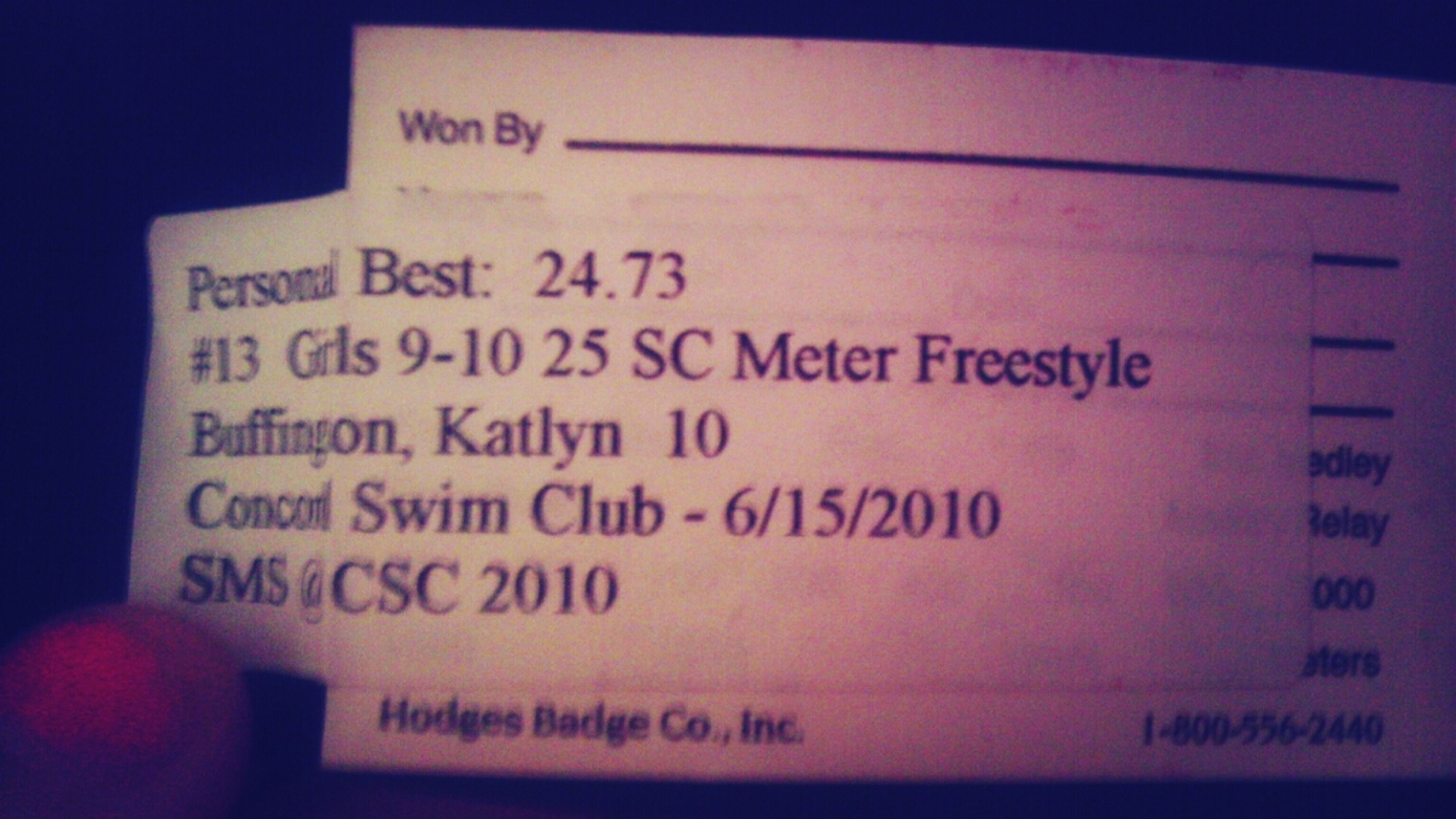 I was a horrible swimmer at 10 !