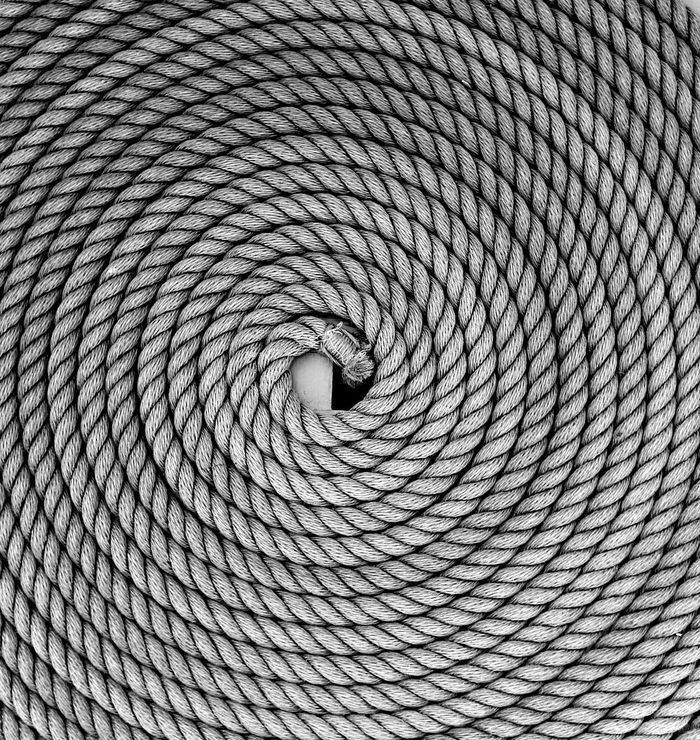 Coil Design Detail Full Frame No People Pattern Repetition Rope