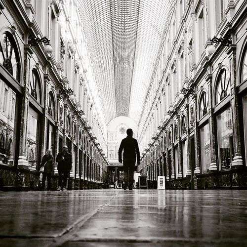 Silhouette Shubertgallery Galleriesroyales Galleriesroyalessainthubert galleriesroyalessthubert brussels bruxelles onepoint onepointperspective blackandwhite