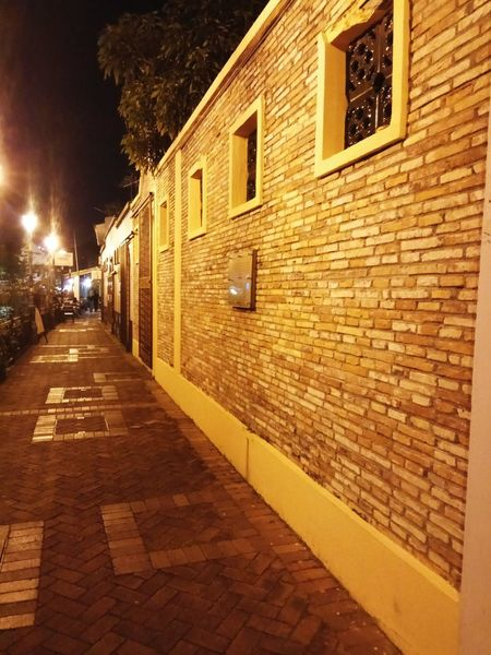 Wallpaper Building Exterior Architecture Built Structure Outdoors Street Light Night City Illuminated Night Lights Wall Building Wall Night Scene Buildings Architecture Building Structures Walking Street Streetphotography