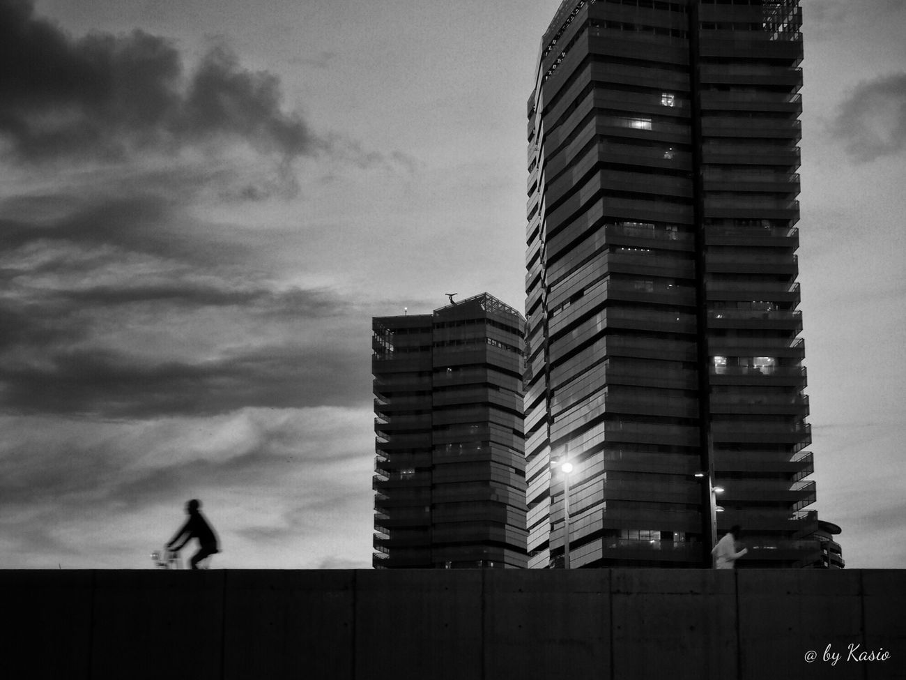 EyeEm Best Edits EyeEm Best Shots Illuminated City Street Sky_collection City Built Structure Capture The Moment Architecture Eye4photography  BW Collection Bw Photography