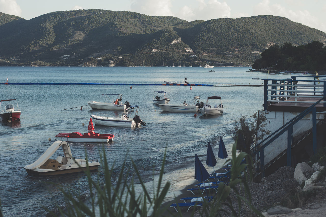 Boats Greece Live For The Story Mountain Nature Outdoors Scenics Sky Summervibes Sunset Water Zakhyntos