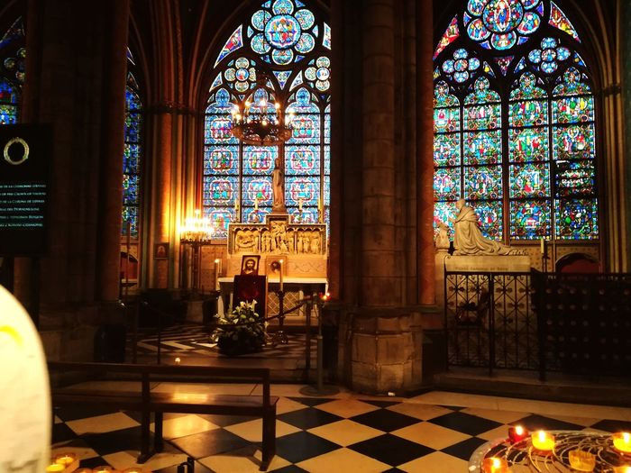 Religion Place Of Worship Travel Destinations Architecture Indoors  A Place Near To Heaven A Place To Pray Notre-Dame Arts Culture And Entertainment History Paris, France
