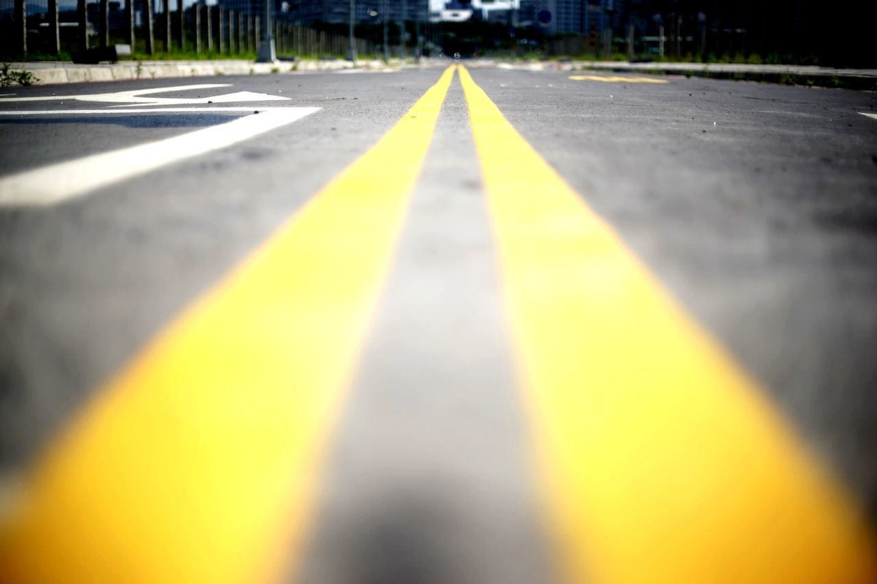 Asphalt Surface Level The Way Forward Straight Road Yellow Vanishing Point Take Off Transportation Streetphotography Pattern, Texture, Shape And Form Let's Go. Together.